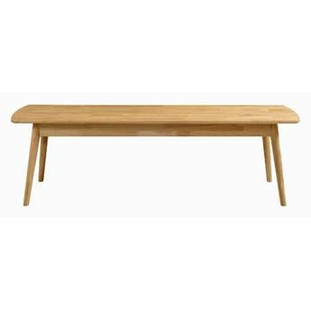 Ławka bez oparcia drewniana, dębowa fabio
