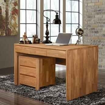 Kontenerek dębowy do biurka  Donat - Olej naturalny.