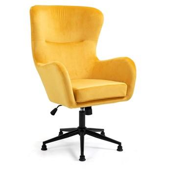 Fotel obrotowy welurowy YC-9118 Żółty