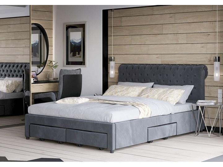 ŁÓŻKO TAPICEROWANE DO SYPIALNI 140X200 1217 WELUR Kategoria Łóżka do sypialni