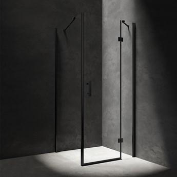 Manhattan kabina prysznicowa prostokątna czarny mat 120x100 cm MH1210BLTR