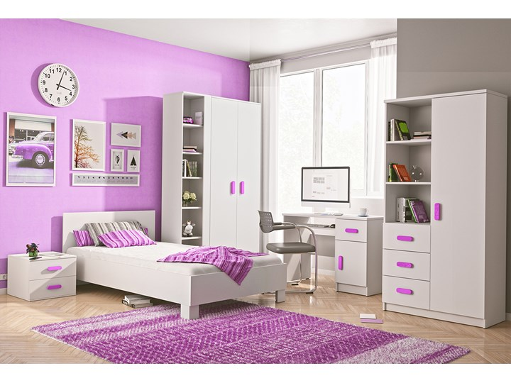 Meble do pokoju dziewczynki. Duży zestaw JUNIOR I Kategoria Zestawy mebli do sypialni