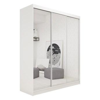 Duża pojemna szafa na ubrania DUBROWNIK 180 cm z lustrem