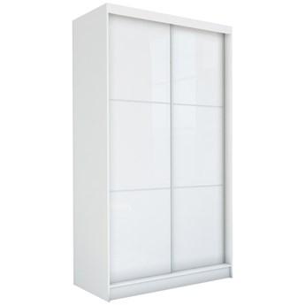 Szafa WALENCJA przesuwna ze szkłem Lacobel 150 cm biała połysk