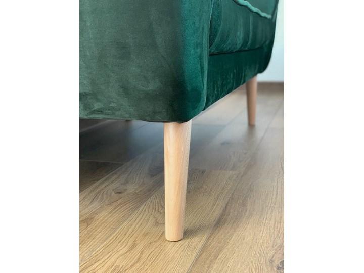 Skandynawska trzyosobowa sofa na wysokich nóżkach PIRS 3 ciemnoniebieska Głębokość 74 cm Szerokość 180 cm Pomieszczenie Salon