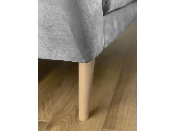 Skandynawska trzyosobowa sofa na wysokich nóżkach PIRS 3 ciemnoniebieska Szerokość 180 cm Głębokość 74 cm Materiał obicia Tkanina