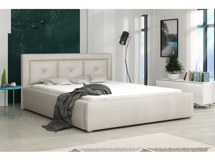 Łóżko tapicerowane MADERA PLUS 160x200 Pojemnik na pościel Z pojemnikiem Kategoria Łóżka do sypialni