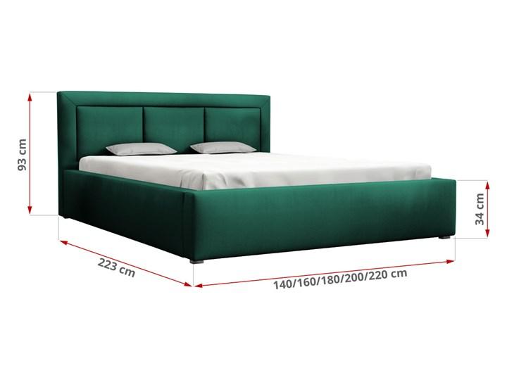 Łóżko tapicerowane butelkowa zieleń MADERA 180x200cm Pojemnik na pościel Z pojemnikiem