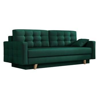 Sofa skandynawska z funkcją spania - ITALIA butelkowa zieleń