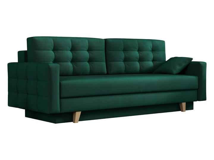Sofa skandynawska z funkcją spania - ITALIA butelkowa zieleń Typ Gładkie Szerokość 226 cm Głębokość 100 cm Głębokość 145 cm Rozkładanie Rozkładana