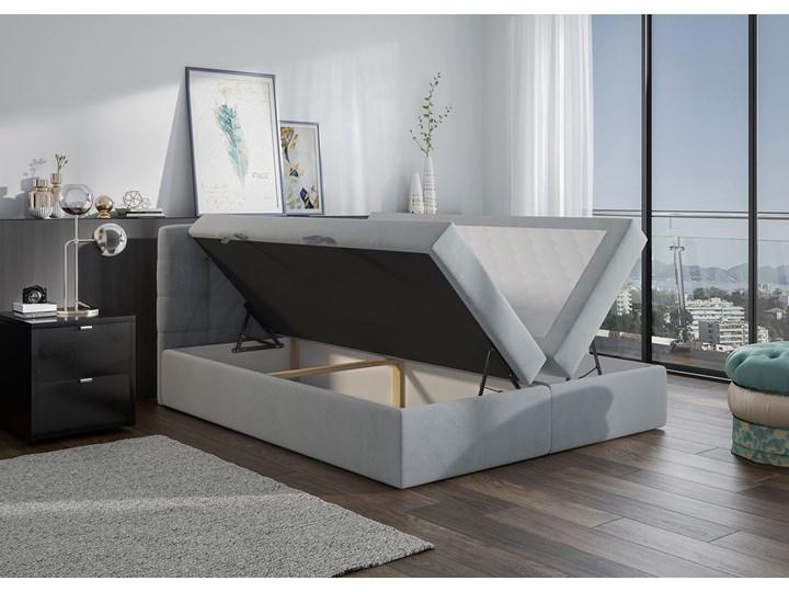 Szare łóżko kontynentalne CENTO 140x200 2x pojemnik casablanca Kolor Szary Kategoria Łóżka do sypialni