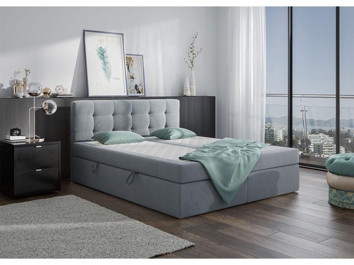 Szare łóżko kontynentalne CENTO 140x200 2x pojemnik casablanca Kolor Szary