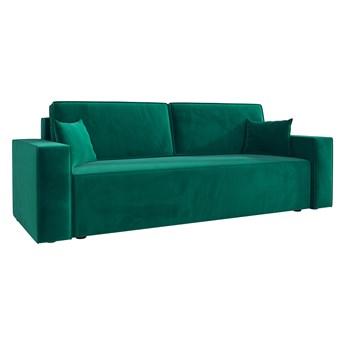 Sofa KLARA rozkładana z pojemnikiem na pościel w kolorze butelkowa zieleń
