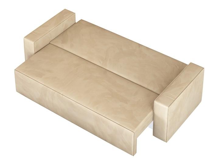 Sofa KLARA rozkładana z pojemnikiem na pościel w kolorze kremowym Szerokość 240 cm Głębokość 87 cm Materiał obicia Welur Funkcje Z funkcją spania