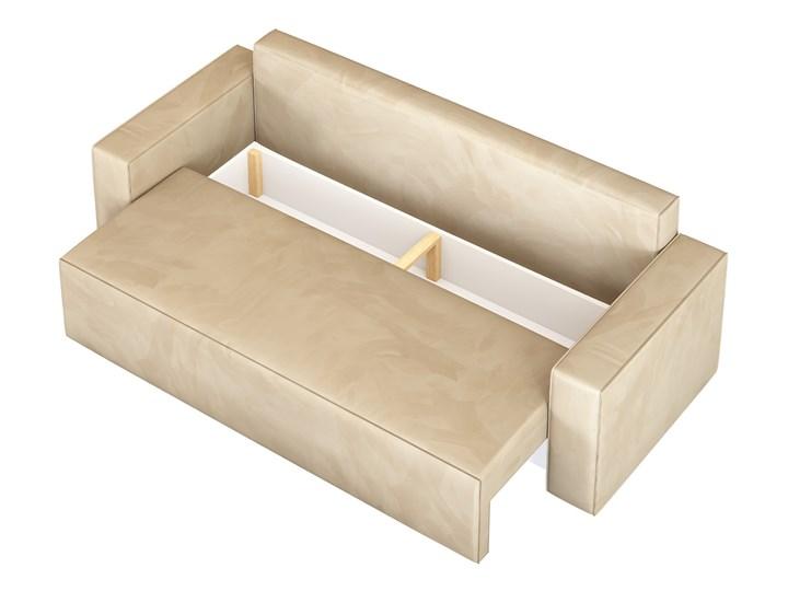 Sofa KLARA rozkładana z pojemnikiem na pościel w kolorze kremowym Szerokość 240 cm Funkcje Z funkcją spania Głębokość 87 cm Materiał obicia Tkanina