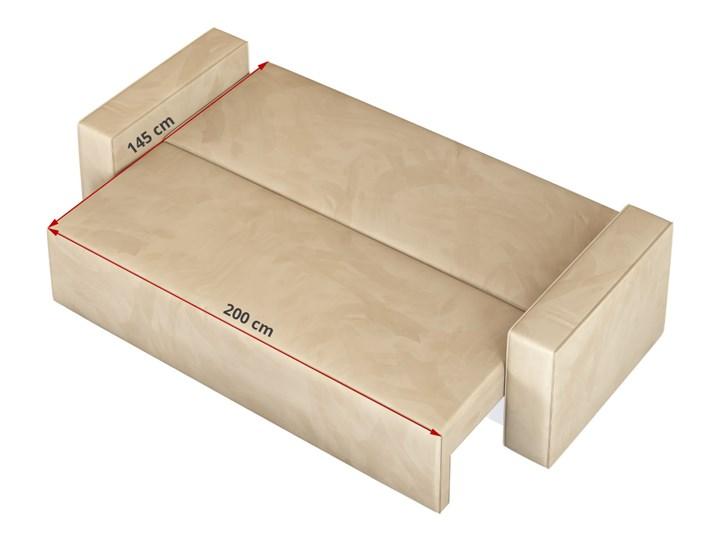 Sofa KLARA rozkładana z pojemnikiem na pościel w kolorze kremowym Szerokość 240 cm Głębokość 87 cm Funkcje Z funkcją spania Typ Gładkie