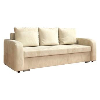 Sofa LENA z funkcją spania i pojemnikiem na pościel w kolorze kremowym