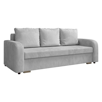 Sofa LENA z funkcją spania i pojemnikiem na pościel w kolorze szarym