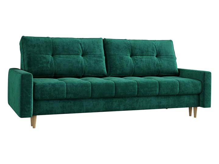 Butelkowa zieleń skandynawska rozkładana sofa z funkcją spania SCANDI Szerokość 214 cm Głębokość 90 cm Pomieszczenie Salon