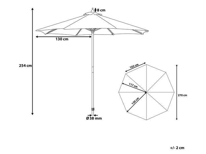 Parasol ogrodowy zielony składany duży 270 x 254 cm Kategoria Parasole ogrodowe Parasole Położenie nogi Centralne