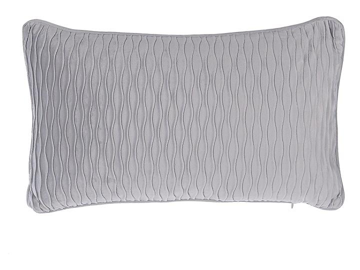 Zestaw 2 poduszek dekoracyjnych szare prostokątne 30 x 50 cm z wypełnieniem ozdobna akcesoria salon sypialnia Poszewka dekoracyjna 30x50 cm Wzór Geometryczny Poliester Kategoria Poduszki i poszewki dekoracyjne