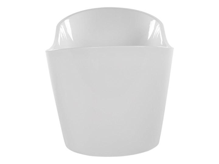 Wanna wolnostojąca biała akrylowa 150 x 75 cm system przelewowy owalna retro Kolor Biały Wolnostojące Kategoria Wanny