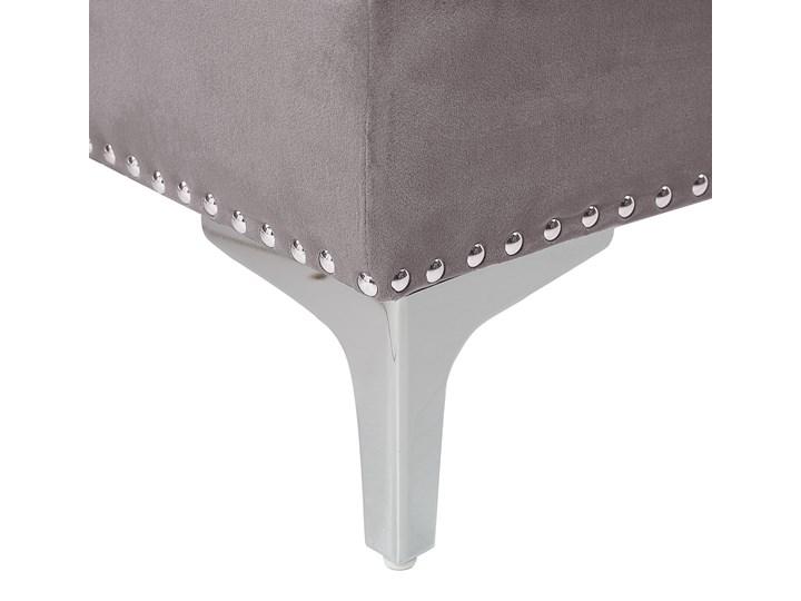 Narożnik lewostronny modułowy szary 3-osobowy dodatkowe poduszki gwoździe tapicerskie pikowana styl glamour Styl Nowoczesny Modułowe Materiał obicia Tkanina