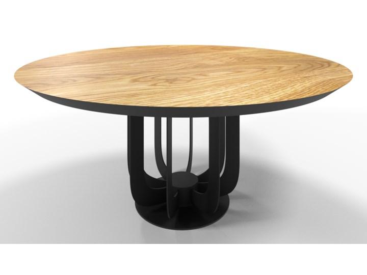 Stół Haga Loftowy Metal Szerokość 100 cm Styl Nowoczesny Drewno Długość 100 cm Wysokość 76 cm Stal Pomieszczenie Stoły do salonu