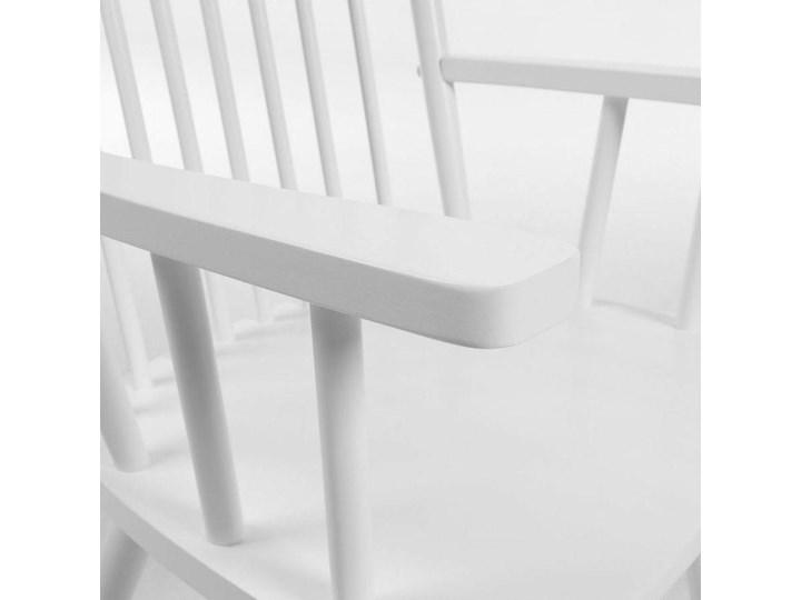 Krzesło bujane Terence 56x98 cm białe Głębokość 78 cm Z podłokietnikiem Kolor Biały Szerokość 56 cm Drewno Głębokość 45 cm Tradycyjne Styl Nowoczesny