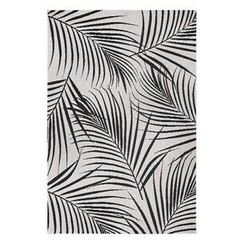 Czarno-szary dywan odpowiedni na zewnątrz Ragami Flora, 80x150 cm
