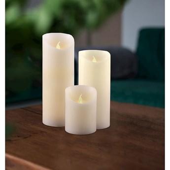 Zestaw 3 świeczek LED DecoKing Wax, wys. 10; 15 i 20 cm