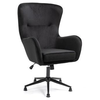 Fotel obrotowy welurowy YC-9118 Czarny