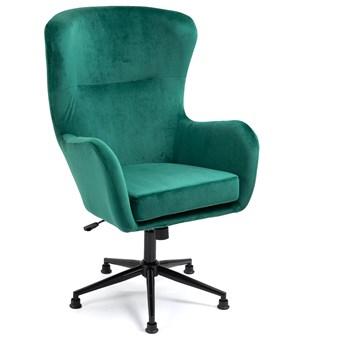 Fotel obrotowy welurowy YC-9118 Zielony/ butelkowa zieleń