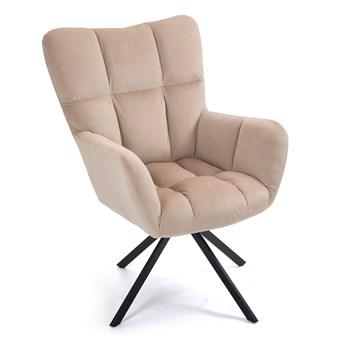Beżowy fotel do salonu obrotowy SC-8053
