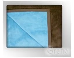 Koc Greno Glamour Coll. 150x200 błękitny/brąz - Profesjonalna Obsługa - Najniższe Koszty - WYSYŁKA 48H