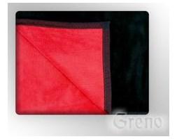 Koc Greno Glamour Coll. 150x200 czerwono/czarny - Profesjonalna Obsługa - Najniższe Koszty - WYSYŁKA 48H