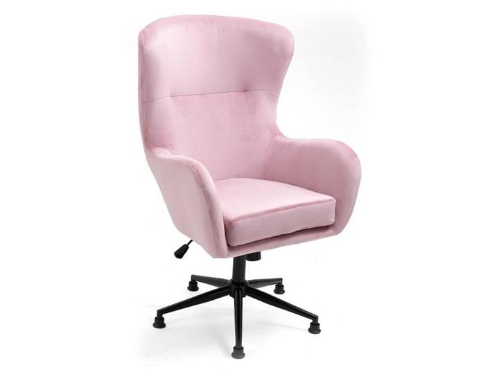 Fotel obrotowy w stylu skandynawskim  Svein (YC-9118) Różowy Wysokość 120 cm Fotel pikowany Tkanina Głębokość 74 cm Metal Kategoria Fotele do salonu