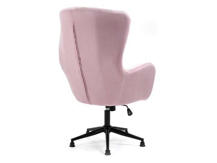 Fotel obrotowy w stylu skandynawskim  Svein (YC-9118) Różowy Wysokość 120 cm Głębokość 74 cm Metal Fotel pikowany Tkanina Kategoria Fotele do salonu