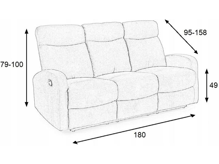 Sofa Rozkładana OSLO 3S Popiel HALMAR Głębokość 95 cm Typ Gładkie