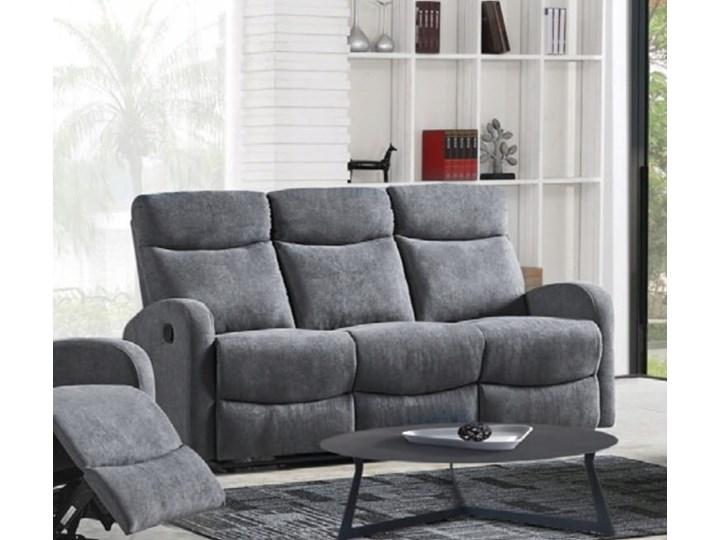 Sofa Rozkładana OSLO 3S Popiel HALMAR Głębokość 95 cm Materiał obicia Tkanina