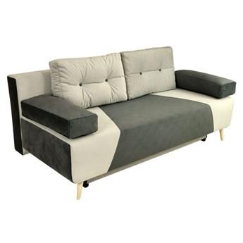 Nowoczesna sofa z funkcją spania SONIA w kolorze szarym