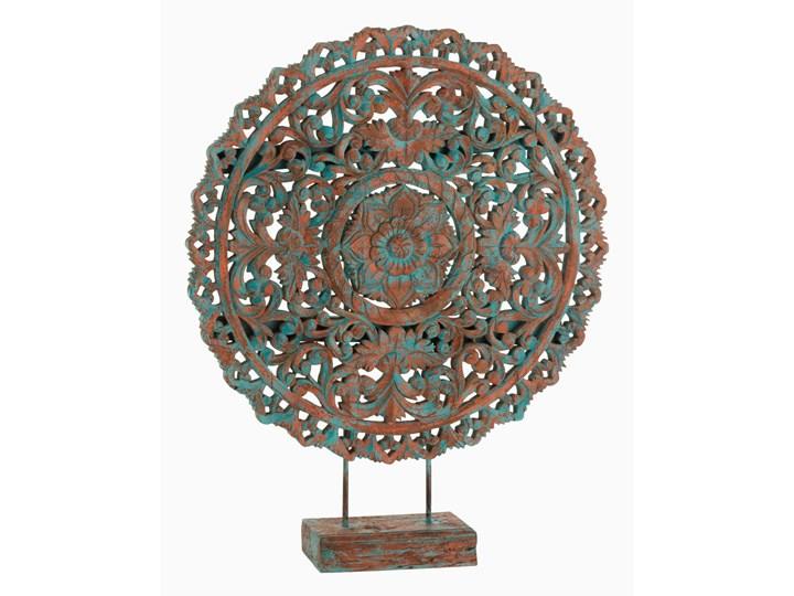 Mandala Oriental Drewno Mango Lazur / Pomarańczowy Rośliny Kategoria Figury i rzeźby Kolor Brązowy