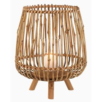 Bambusowy świecznik na 3 nóżkach