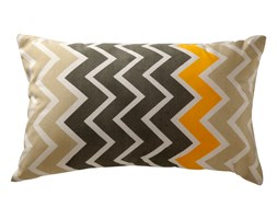 Poduszka zigzag szaro-żółta