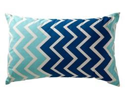 Poduszka zigzag niebieska