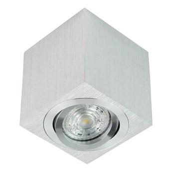 Punktowa oprawa sufitowa natynkowa regulowana PALDA GU10 kwadratowa, aluminium, srebrny szlif IP20 EDO777341 EDO