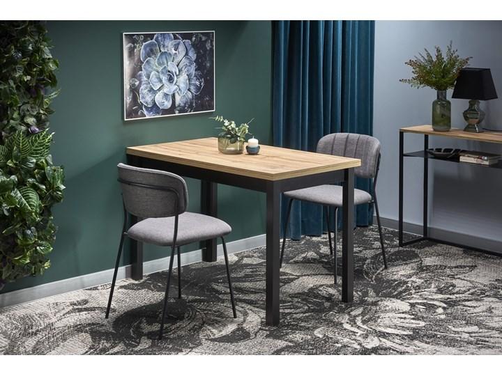 Nierozkładany stół w stylu industrialnym Cobalt Drewno Metal Wysokość 77 cm Długość 120 cm  Wysokość 120 cm Rozkładanie Szerokość 120 cm Kolor Beżowy