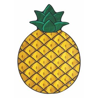Koc plażowy w kształcie ananasa Big Mouth Inc., ⌀ 152 cm