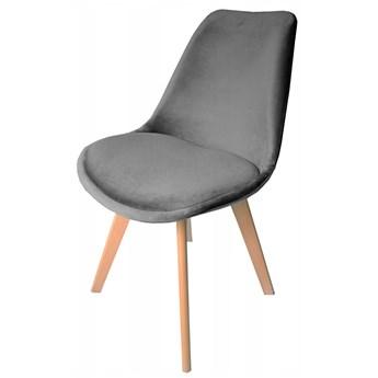 Krzesło DIOR welurowe velvet szare