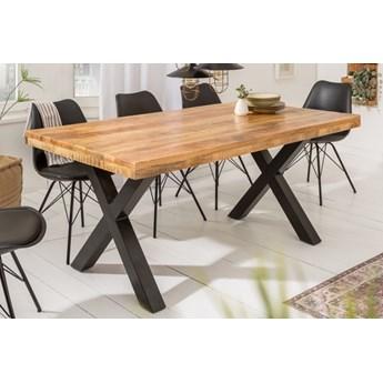 Drewniany stół do jadalni 160 noga X